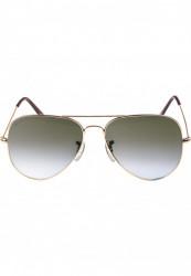 Unisex slnečné okuliare MSTRDS Sunglasses PureAv Youth gold/grey