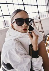 Unisex slnečné okuliare MSTRDS Sunglasses September black/black