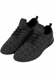 Unisex športová obuv Urban Classics Knitted Light Runner Shoe blk