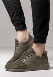 Unisex športová obuv Urban Classics Light Runner Shoe olive