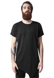 Pánske tričko URBAN CLASSICS Asymetric Long Tee black