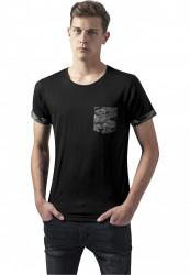 Pánske tričko URBAN CLASSICS CAMO CONTRAST POCKET TEE DARK CAMO