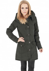 Urban CLASSICS Dámska bunda Ladies Garment Washed Long Parka