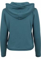 URBAN CLASSICS Dámska mikina Ladies Cropped Terry Hoody teal #2