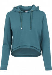 URBAN CLASSICS Dámska mikina Ladies Cropped Terry Hoody teal #3