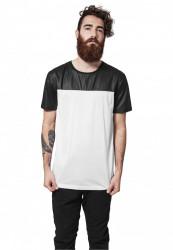 Pánske tričko URBAN CLASSICS FOOTBALL MESH LONG JERSEY WHT/BLK
