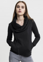 URBAN CLASSICS LADIES ASYMETRIC ZIP JACKET BLACK