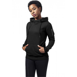 URBAN CLASSICS LADIES BOMBER HOODY BLACK