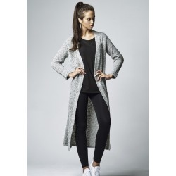 URBAN CLASSICS LADIES BOUCLE CARDIGAN GREY