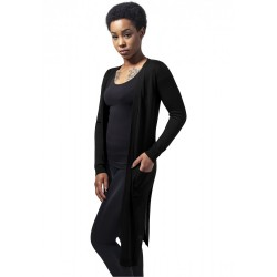 URBAN CLASSICS LADIES FINE KNIT LONG CARDIGAN BLACK