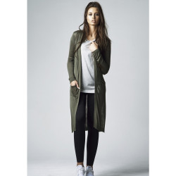 URBAN CLASSICS LADIES FINE KNIT LONG CARDIGAN OLIVE