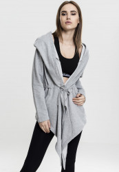 URBAN CLASSICS LADIES HOODED SWEAT CARDIGAN GREY