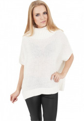 URBAN CLASSICS LADIES KNITTED PONCHO OFF WHITE
