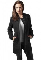 URBAN CLASSICS LADIES PEACHED LONG BOMBER JACKET BLACK