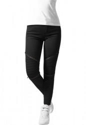 URBAN CLASSICS LADIES STRETCH BIKER PANTS BLACK