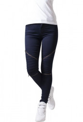 URBAN CLASSICS LADIES STRETCH BIKER PANTS DARK DENIM