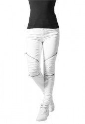URBAN CLASSICS LADIES STRETCH BIKER PANTS WHITE
