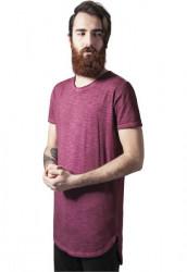 Pánske tričko URBAN CLASSICS Long Back Shaped Spray Dye burgundy