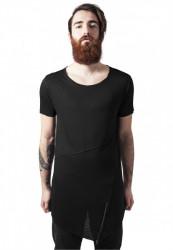 Pánske tričko URBAN CLASSICS Long Open Edge Front Zip black