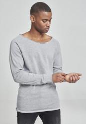 Pánske tričko URBAN CLASSICS Long Open Edge Terry Crewneck grey