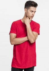 Pánske tričko URBAN CLASSICS LONG SHAPED SLUB RAGLAN TEE FIRE RED