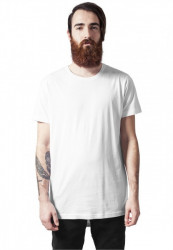 Pánske tričko URBAN CLASSICS Long Tail Tee white