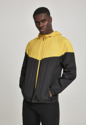 Pánska bunda URBAN CLASSICS 2-Tone Tech Windrunner chromeyellow/blk