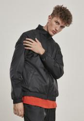 URBAN CLASSICS Pánska prechodná bunda URBAN CLASSCS Jacquard Track Jacket black