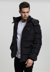 Pánska zimná bunda URBAN CLASSICS Hooded Puffer Jacket black