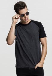 Pánske tričko URBAN CLASSICS RAGLAN CONTRAST TEE CHA/BLK