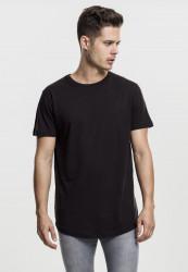 Pánske tričko URBAN CLASSICS SHAPED LONG TEE BLACK