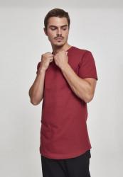 Pánske tričko URBAN CLASSICS Shaped Long Tee burgundy