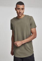 Pánske tričko URBAN CLASSICS Shaped Long Tee olive