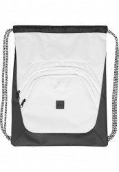 Vrecko Urban Classics Ball Gym Bag biela/čierna