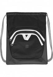 Vrecko Urban Classics Ball Gym Bag čierna/biela