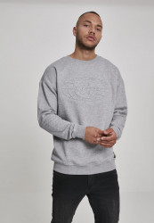 Wu-Wear Embossed Crewneck Farba: heather grey,
