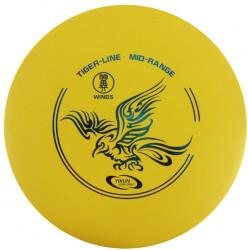 YIKUNSPORTS Frisbee Discgolf YAO Midrange Tiger Line yellow