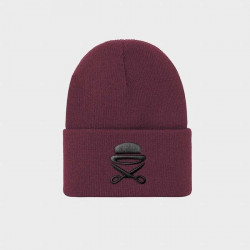 Zimná čiapka Cayler & Sons PA Icon Old School Beanie maroon/black - UNI