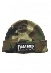Zimná čiapka Thrasher LOGO PATCH BEANIE camo
