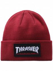 Zimná čiapka Thrasher LOGO PATCH BEANIE Maroon