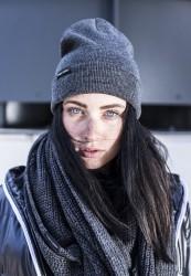 Zimná čiapka Urban Classics Basic Flap tmavo šedá
