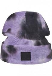 Zimná čiapka Urban Classics Tie Dye violet/darkgrey