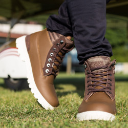 Zimná obuv URBAN CLASSICS WINTER BOOTS BROWN/DARK #1