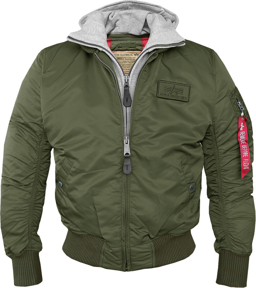 ALPHA INDUSTRIES Pánska zelená bombera Alpha Indusitries MA-1 D Tec