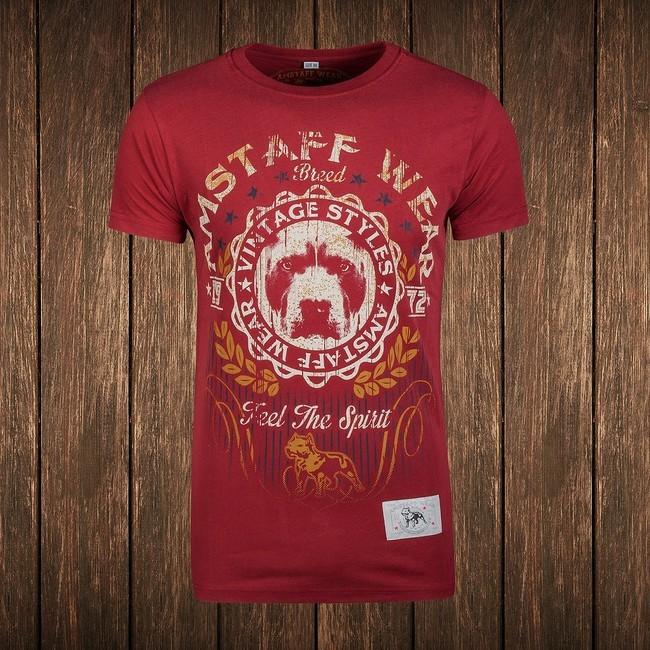 Amstaff Vintage Malex T-Shirt - bordeaux