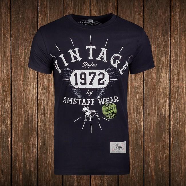 Amstaff Vintage T-Shirt - schwarz