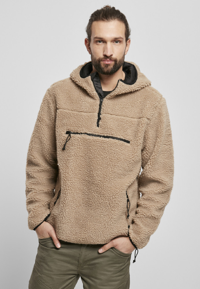 Pánska bunda BRANDIT Teddy fleece Worker Pullover Farba: camel, Grösse: XXL