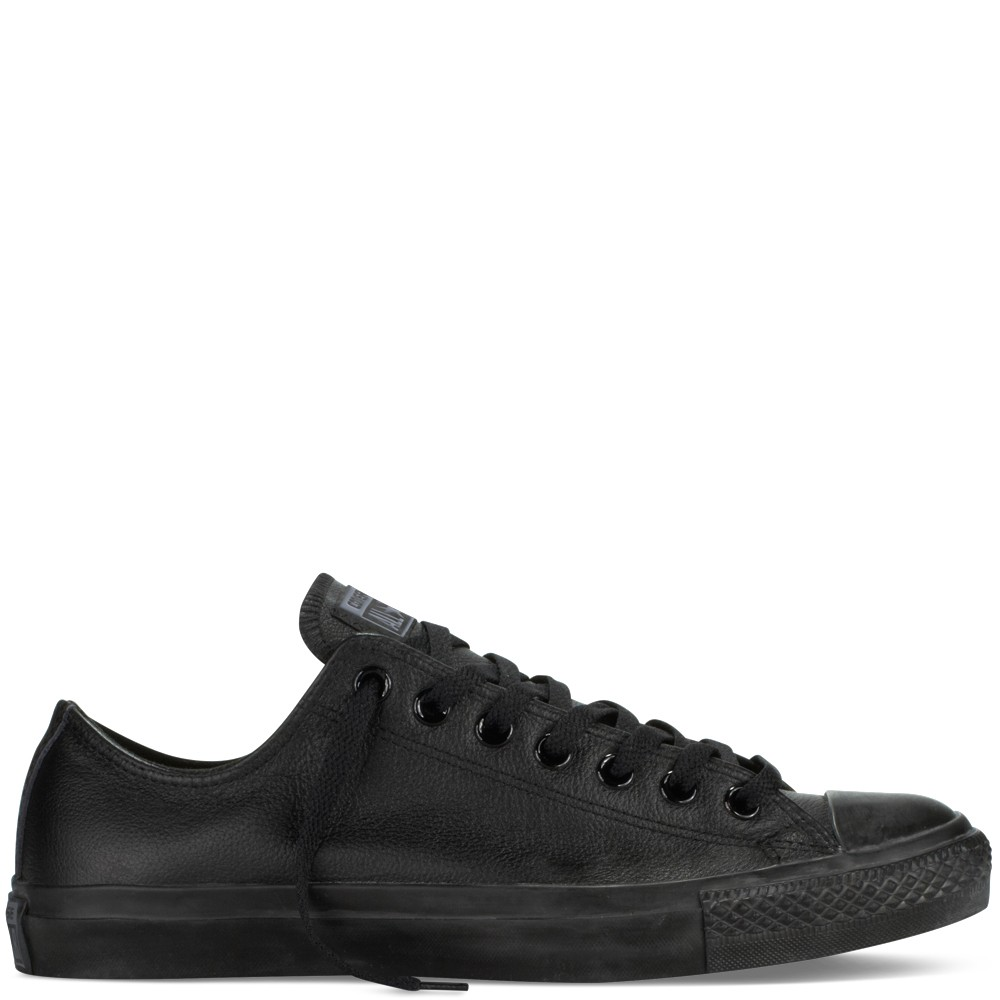 CONVERSE Unisex čierne kožené tenisky Chuck Taylor All Star Mono ... 6411c1d5a36