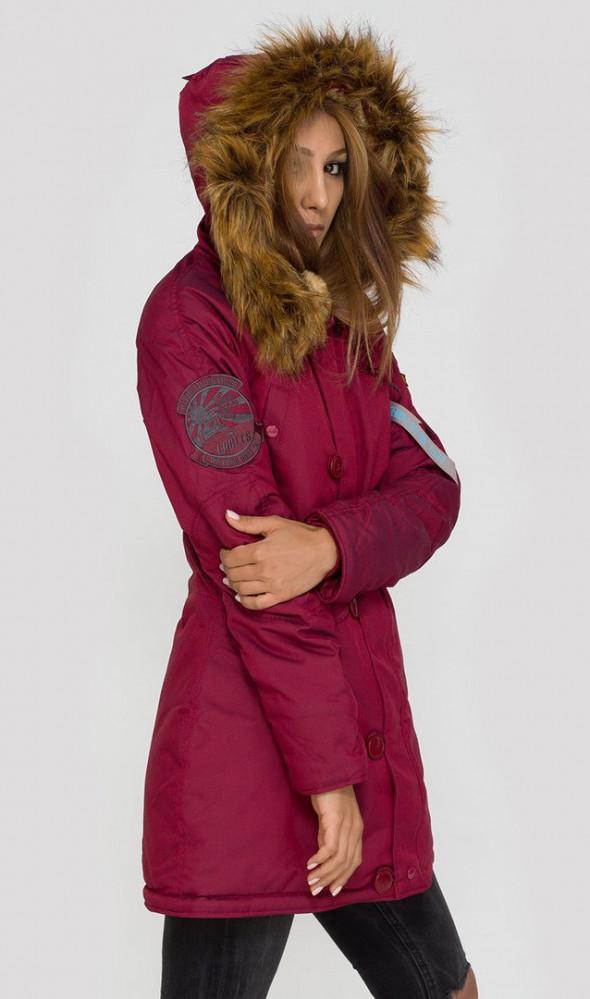 Dámska bordová zimná bunda Alpha Industries Explorer - Dámske bundy ... dfc6445f98e
