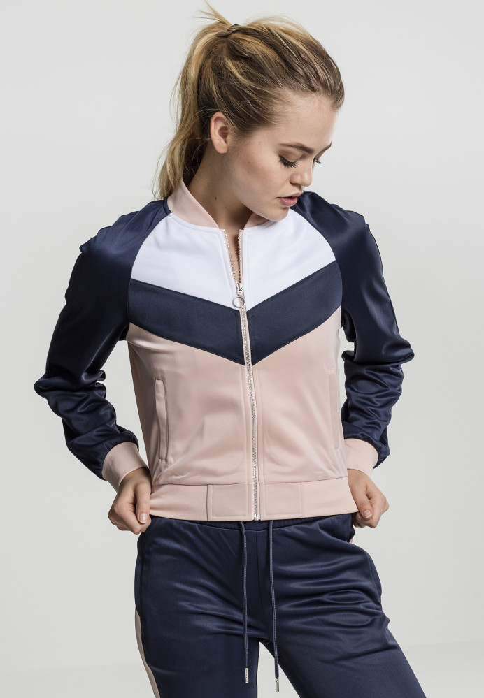 f961071c9e51 Dámska prechodná bunda URBAN CLASSICS Ladies Short Raglan Track Jacket  light rose navy white